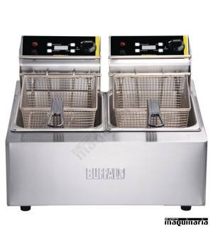 Freidora eléctrica doble uso intensivo 2x5 litros NIL495