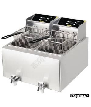 Freidora eléctrica doble uso intensivo 2x8 litros NIGH125