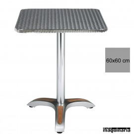 Mesa bar inox 4R03ALC cuadrada
