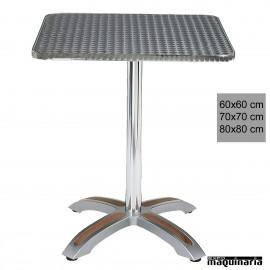 Mesa de terraza 4R04IC aluminio cuadrada