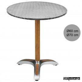 Mesa de terraza 4R06ALR de aluminio para hostelería