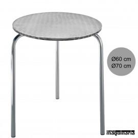 Mesa aluminio terraza 3R80AL redonda