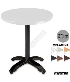 Mesa melamina 3R54MER redonda blanca
