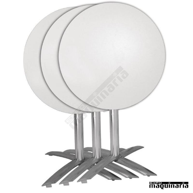 Base de aluminio para mesa abatible nigf962 de tablero for Mesas de aluminio para jardin