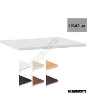 Tablero para mesas de Melamina 120x80 cm