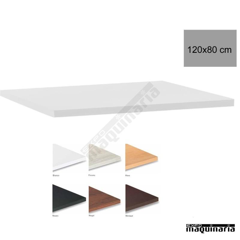 Tablero para mesas de melamina 120x80 cm con acabado en for Tableros para mesas