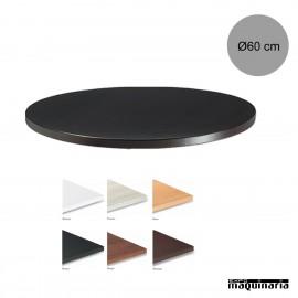 Tablero para mesas de Melamina Ø60 cm