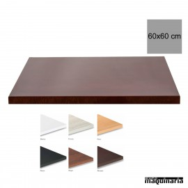 Tablero para mesas de Melamina 60x60 cm