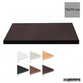 Tablero para mesas de Melamina 70x70 cm
