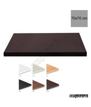 Tablero para mesas de melamina 70x70 cm con acabado en for Tableros para mesas
