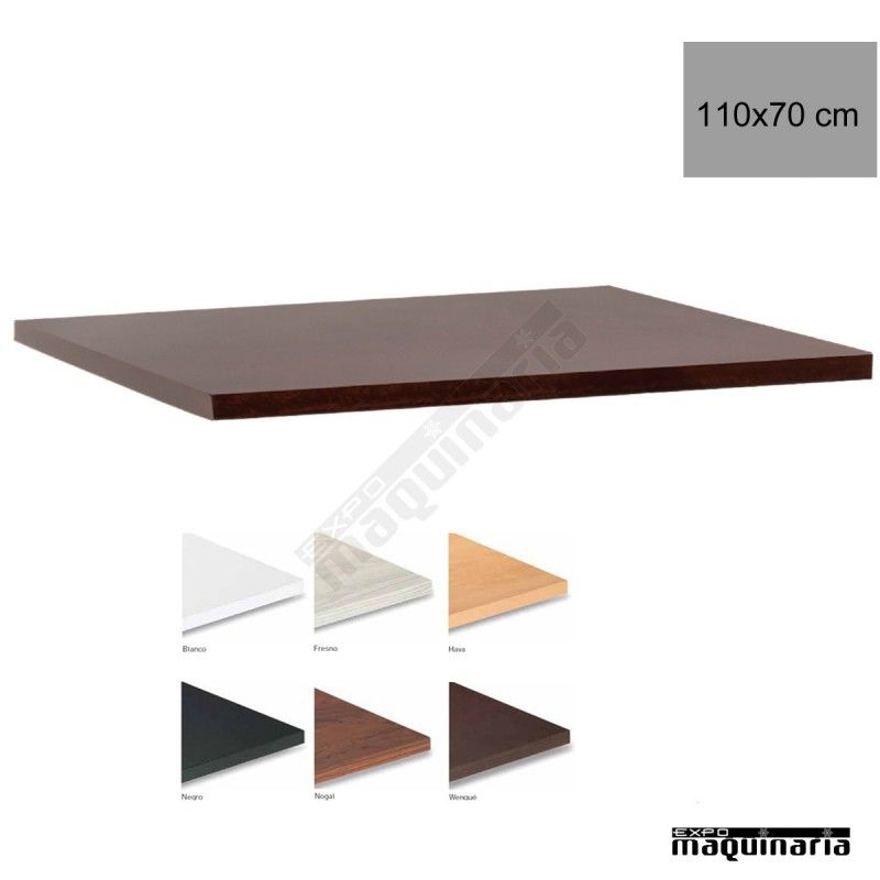 Tablero para mesas de melamina 110x70 cm con acabado en for Tableros para mesas