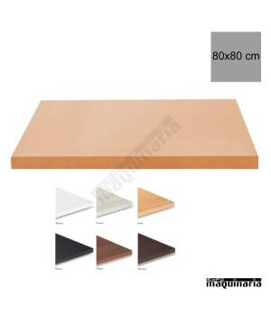Tablero para mesas de Melamina 80x80 cm