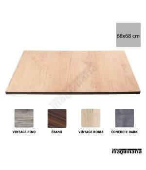 Tablero cuadrado compacto terraza NICK805 medidas