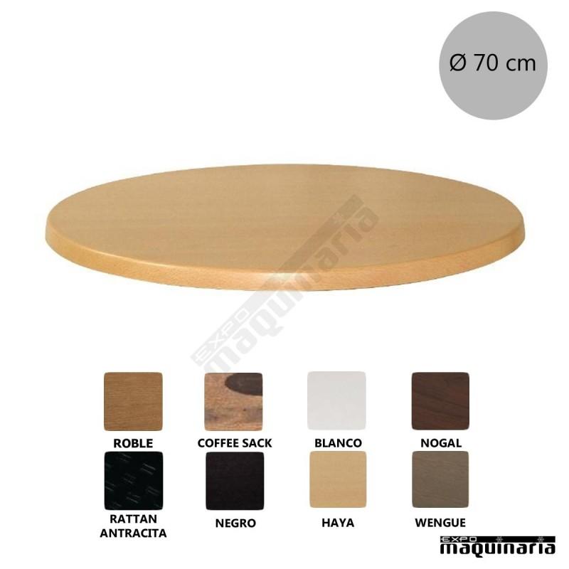 Tablero redondo mesa werzalit nicl041 muy resistente for Tableros para mesas