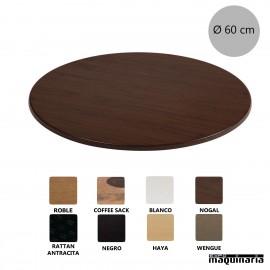 Tablero mesa werzalit color nogal NIU549
