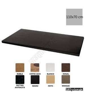 Tablero werzalit negro 110x70 NIDN647