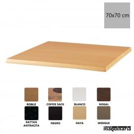Tablero para mesa color haya 70x70 NIU595