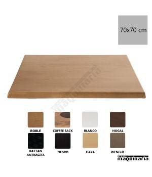 Tablero para mesa roble 70x70 NICC517