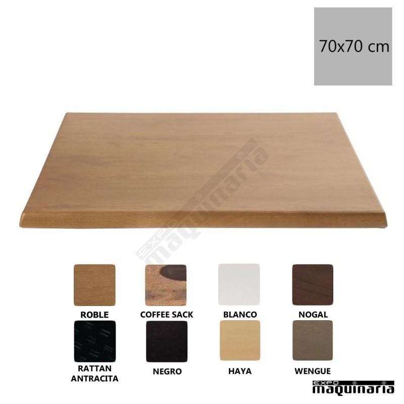 Tablero para mesa roble 70x70 nicc517 uso interior exterior - Tableros de madera para exterior ...