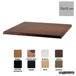 Tablero para mesa color nogal 70x70 NIU596