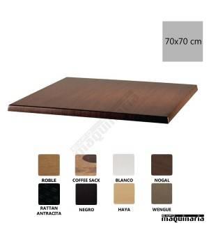 Tablero para mesa color nogal 70x70 NIU596