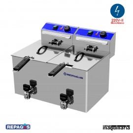 Freidora eléctrica de sobremesa RGFE7+7M de 7+7 litros