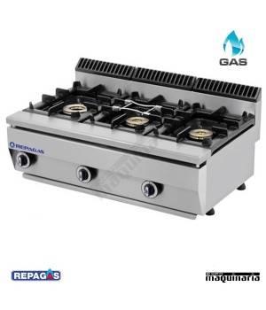 Cocina industrial Repagas RGC530PM tres quemadores de gas