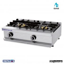 Cocina industrial Repagas RGCG520M dos quemadores de gas