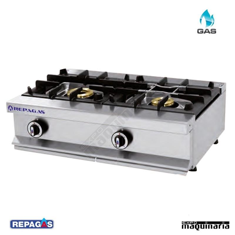 Maquinaria hosteleria cocina industrial c 520m for Fogones industriales a gas