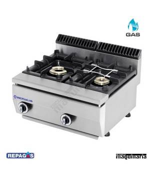 Cocina industrial Repagas RGC520/PM dos quemadores de gas