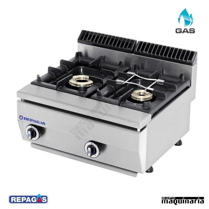 Cocina industrial c 520pm de dos fuegos a gas para la for Cocinas industriales para el hogar