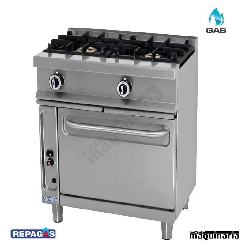 Cocina industrial cg521 g con horno for Cocinas repagas