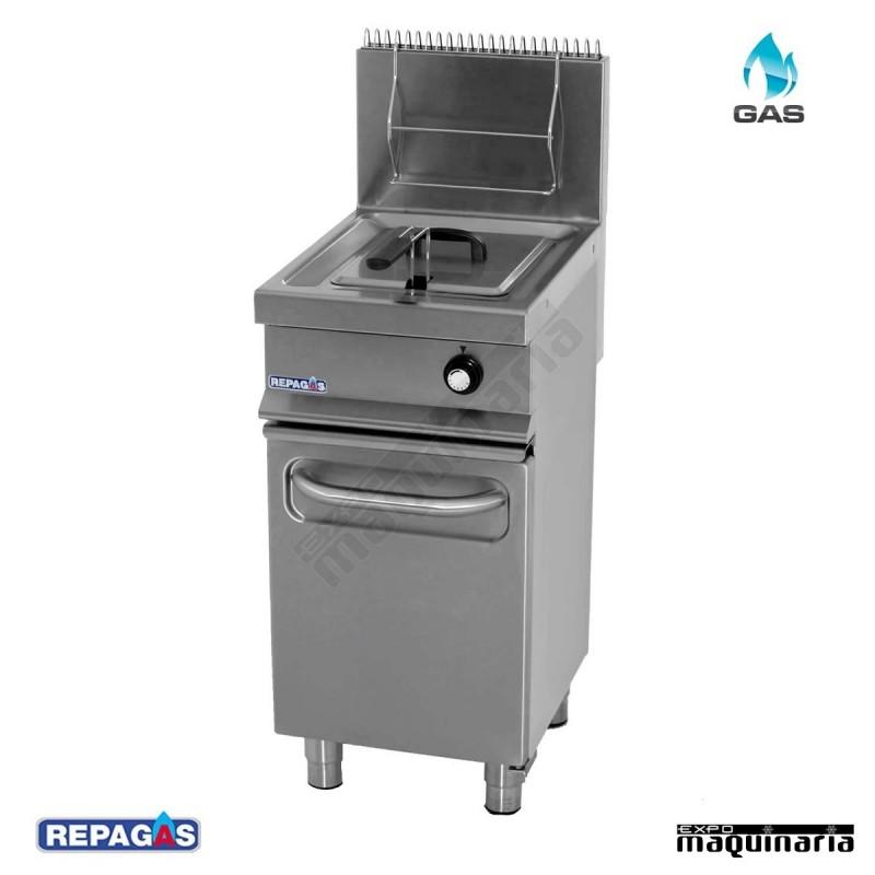 Freidora profesional repagas con cuba de 12 litros y mueble for Freidora industrial