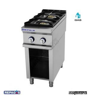Cocina industrial Repagas RGCG720/M+S-47 dos quemadores de gas