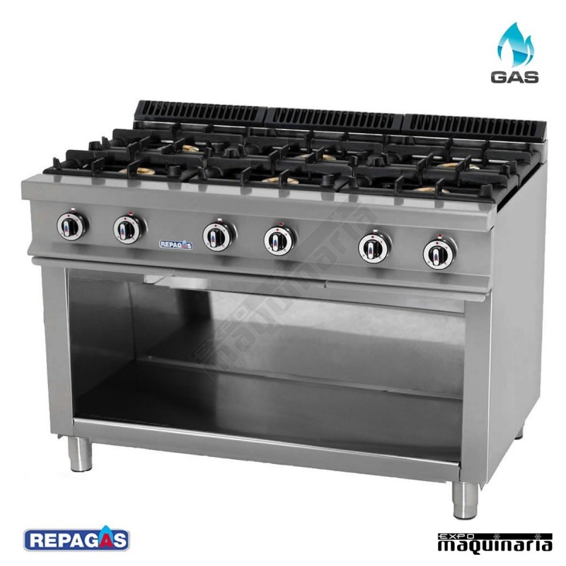 Cocina industrial repagas rgcg 760 seis quemadores de gas for Accesorios de cocina industrial