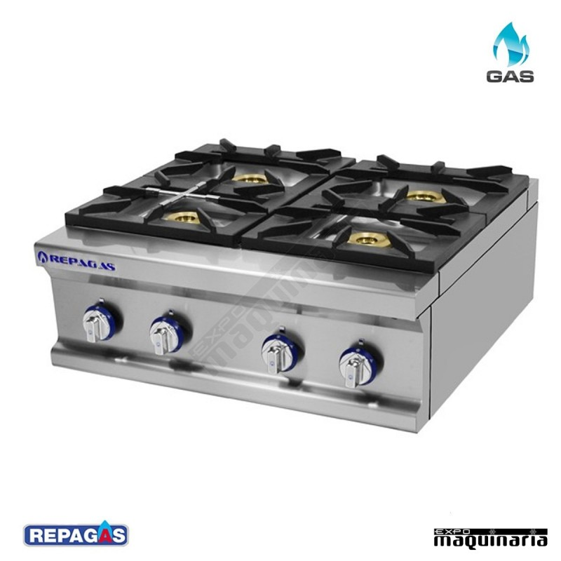 Cocina industrial repagas rgcg 740 m cuatro quemadores de gas for Ver cocinas industriales