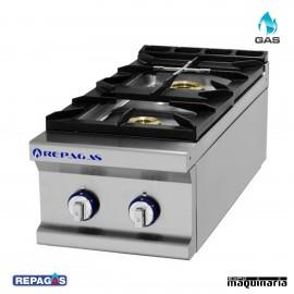 Cocina industrial Repagas RGCG720M dos quemadores de gas