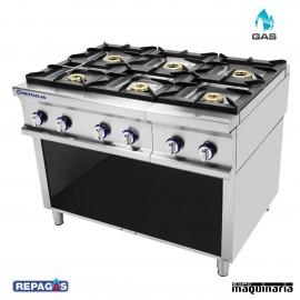 Cocina industrial Repagas RGCG-960LC seis quemadores de gas