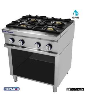 Cocina industrial Repagas RGCG-940/M+S-89 cuatro quemadores de gas