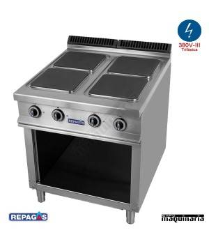 Cocina industrial electrica repagas rgce940 m s89 cuatro for Cocina industrial electrica