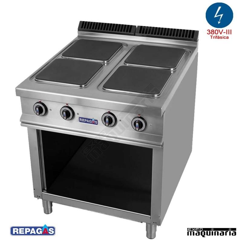 Cocina industrial electrica repagas rgce940 m s89 cuatro for Cocinas repagas