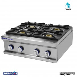Cocina industrial Repagas RGCG-940/M cuatro quemadores de gas