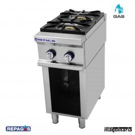 Cocina industrial Repagas RGCG-920/M+S-49 dos quemadores de gas