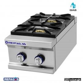 Cocina industrial Repagas RGCG-920/M dos quemadores de gas