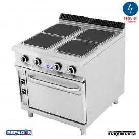 Cocina industrial electrica Repagas CE-941 cuatro placas y horno