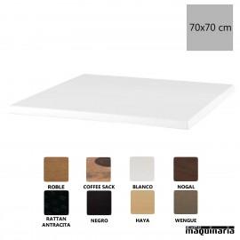 Tablero de mesa blanco 70x70 NICG905