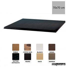 Tablero Werzalit 70x70 negro NICC514