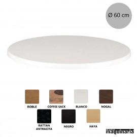 Tablero blanco redondo Ø60 NICG902
