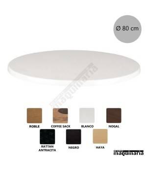 Tablero de mesa redondo Ø80 NICG903