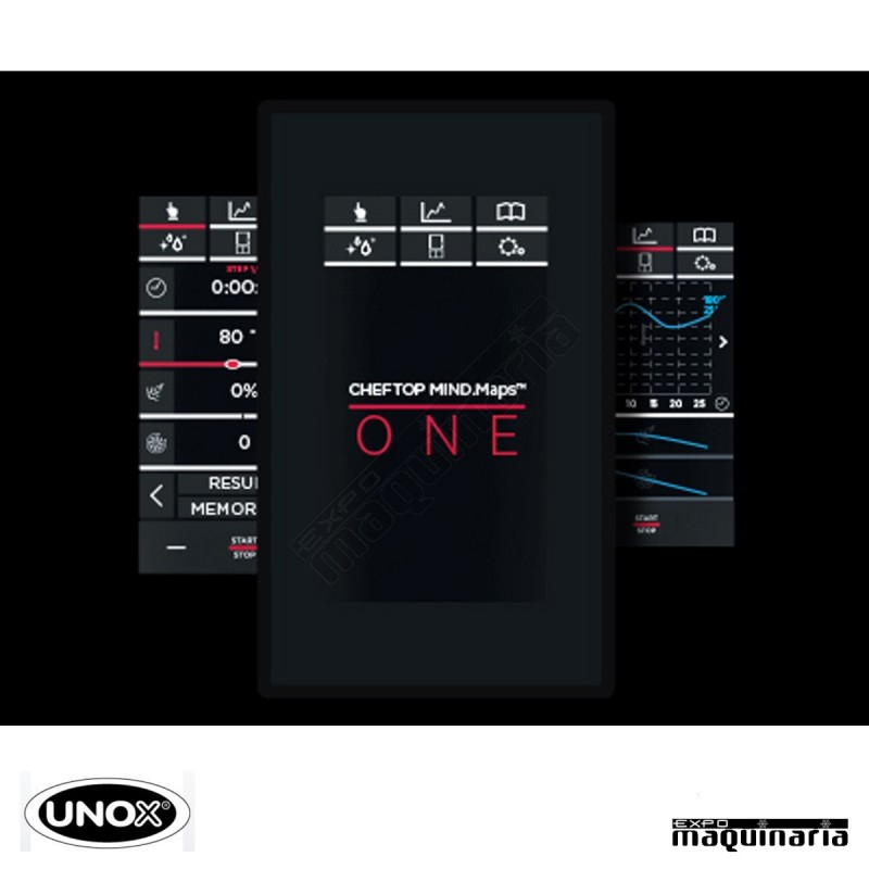 Horno el ctrico one gn1 1 unox unxevc0511e1r interfaz lcd for Horno electrico medidas